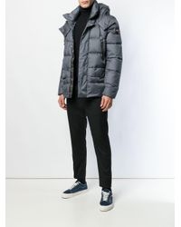 Peuterey - Gray Hooded Padded Jacket for Men - Lyst