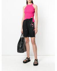 DIESEL - Pink Knitted Halterneck Top - Lyst