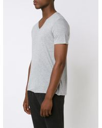 ATM - Gray Lightweight V-neck Jersey T-shirt for Men - Lyst