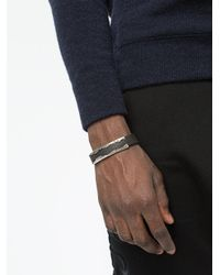 Tobias Wistisen - Black Bracciale Di Pelle for Men - Lyst