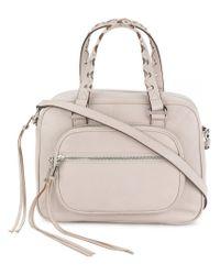DKNY - Gray R81dc304fog136719 Grigio Leather/fur/exotic Skins->leather - Lyst