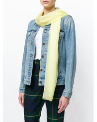 Blumarine - Yellow Sheer Scarf - Lyst