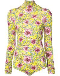Prabal Gurung - Multicolor Floral Bodysuit - Lyst
