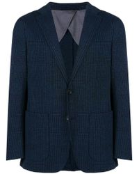 Hackett - Blue Check Pattern Blazer for Men - Lyst