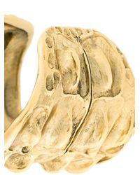 Saint Laurent - Metallic Opyum Crocodile Textured Cuff - Lyst