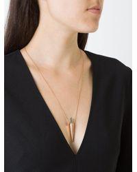 Diane Kordas - Metallic Diamond Line Amulette Necklace - Lyst