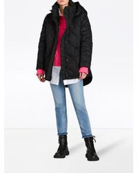 Burberry - Black Detachable Hood Quilted Oversized Jacket - Lyst