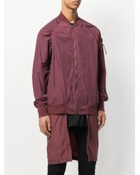 Julius - Red High Low Bomber Jacket for Men - Lyst