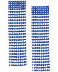 Alessandra Rich - Blue Hanging Drop Earrings - Lyst