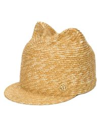 Maison Michel - Natural Cat Ears Straw Hat - Lyst