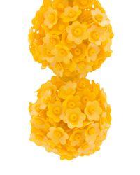 Sachin & Babi - Yellow Fleur Bouquet Earrings - Lyst