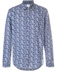 Paul Smith - Blue Cherry Blossom Shirt for Men - Lyst