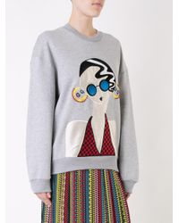 Holly Fulton - Gray Lady Patch Sweatshirt - Lyst