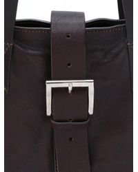 P.A.R.O.S.H. - Brown Studded Buckle Shoulder Bag - Lyst
