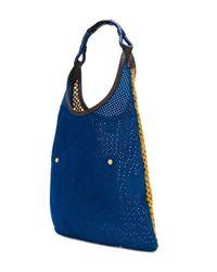 Marni - Blue Perforated Shoulder Bag - Lyst