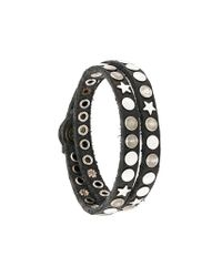 HTC Hollywood Trading Company - Black Bracciale Con Borchie for Men - Lyst