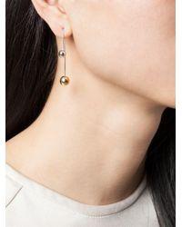 Asherali Knopfer - Metallic 18kt White Gold Interchangeable Bar Earring - Lyst