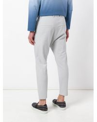 Jil Sander - Gray Dropped Crotch Trousers for Men - Lyst