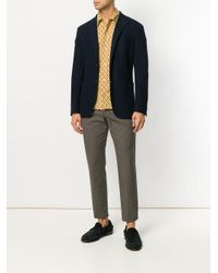 Entre Amis - Brown Cropped Tapered Trousers for Men - Lyst