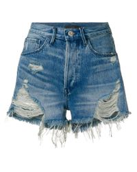 3x1 - Blue Carter Denim Shorts - Lyst