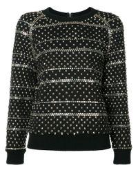 Ashish - Black Studded Sweatshirt - Lyst