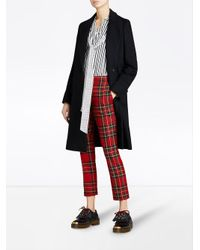 Burberry - Tartan Tailored Trousers - Lyst