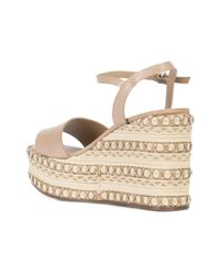 Schutz - Natural Pattern Weaved Wedges - Lyst