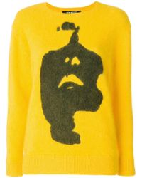 Neil Barrett - Yellow Siouxsie Print Jumper - Lyst