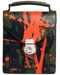 Burberry - Green Small Dk88 Splash Satchel Bag - Lyst