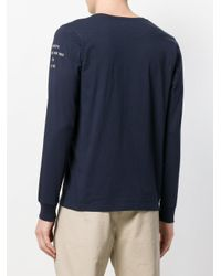 Saturdays NYC - Blue Long-sleeve Fitted Sweater for Men - Lyst