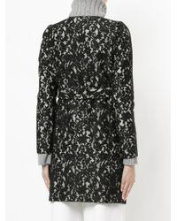 Han Ahn Soon - Black Belted Lace Coat - Lyst