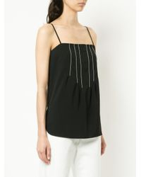 Bassike - Black Contrast Stitch Top - Lyst
