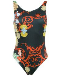 Brigitte Bardot - Black Printed Swimsuit - Lyst