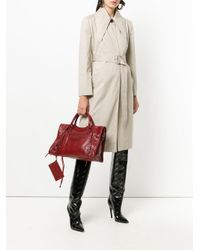 Balenciaga - Red Classic City Tote Bag - Lyst