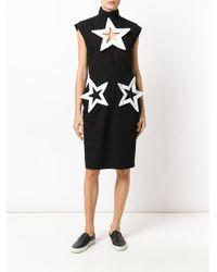 KTZ - Black Star Cut-detail Dress - Lyst