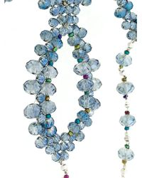 Night Market - Blue Tied Necklace - Lyst