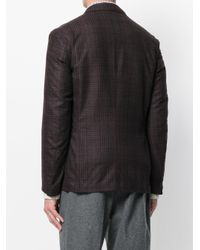 Eleventy - Red Tartan Check Blazer for Men - Lyst
