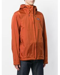 Patagonia - Orange Hooded Windbreaker for Men - Lyst