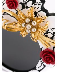 Dolce & Gabbana - Black 'mama's Brocade' Limited Edition Sunglasses - Lyst