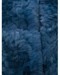 Yves Salomon - Blue Fur Stole - Lyst