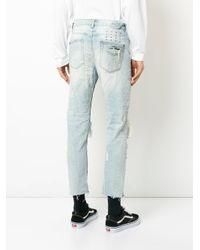 Ksubi - Blue Distressed Jeans for Men - Lyst