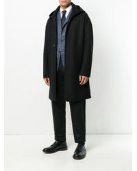 Hevò - Black Classic Hooded Coat for Men - Lyst