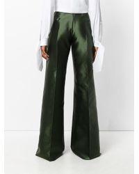 Antonio Berardi - Green Flared Trousers - Lyst