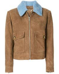 Dondup - Brown Contrast Colour Short Coat for Men - Lyst