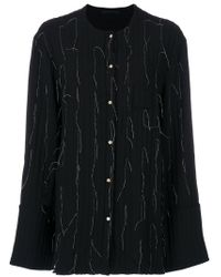 Pinghe - Black Thread Detail Quilted Shirt - Lyst