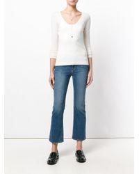 N.Peal Cashmere - White Superfine V-neck Jumper - Lyst