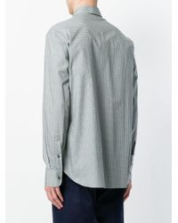 Brioni - Green Patterned Shirt for Men - Lyst