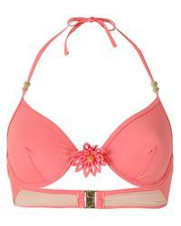 Marlies Dekkers - Pink La Flor Balcony Bikini Top - Lyst
