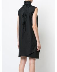 CECILIE BAHNSEN - Black Frill Collar Tie Back Sleeveless Blouse - Lyst