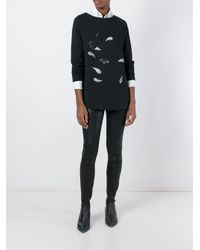 Antonio Marras - Black Embroidered Paisley Sweatshirt - Lyst